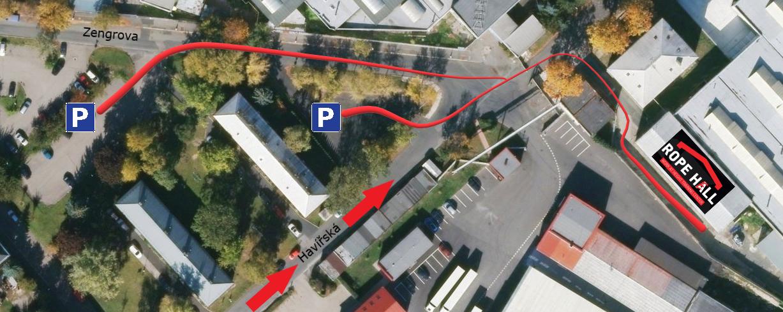 ROPE HALL Kde zaparkovat